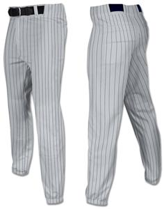 GREY W/BLACK PINSTRIPES
