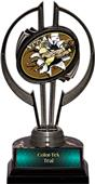 "Black Hurricane 7"" Bust-Out Football Trophy"