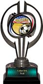 "Awards Black Hurricane 7"" Americana Soccer Trophy"
