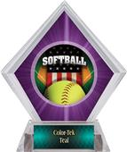 Awards Patriot Softball Purple Diamond Ice Trophy