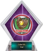 Awards Shield Softball Purple Diamond Ice Trophy