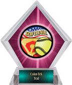 Awards Americana Softball Pink Diamond Ice Trophy
