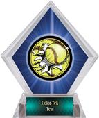 Awards Bust-Out Softball Blue Diamond Ice Trophy