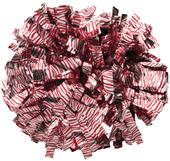 Pizzazz Zebra Print Metallic Cheerleaders Poms