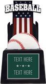 "Hasty Award 13"" & 15"" Patriot Baseball Resin Award"