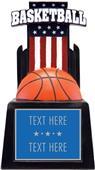 "Hasty Awards 15"" Patriot Basketball Resin"