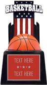 "Hasty Awards 15"" Patriot Basketball Resin"