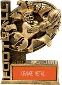 "Hasty Awards 6"" Bust-Out Football Resin Trophies"