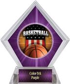 Award Patriot Basketball Purple Diamond Ice Trophy