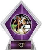 P.R. Male Basketball Purple Diamond Ice Trophy