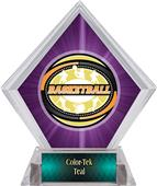 Award Classic Basketball Purple Diamond Ice Trophy