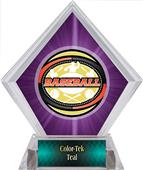 Awards Classic Baseball Purple Diamond Ice Trophy