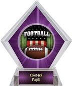 Awards Patriot Football Purple Diamond Ice Trophy