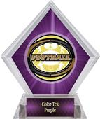 Awards Classic Football Purple Diamond Ice Trophy