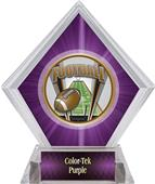 Awards ProSport Football Purple Diamond Ice Trophy