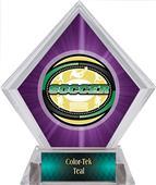 Awards Classic Soccer Purple Diamond Ice Trophy