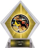 P.R. Female Basketball Yellow Diamond Ice Trophy