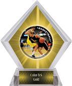 P.R. Female Basketball Yellow Diamond Ice Trophy
