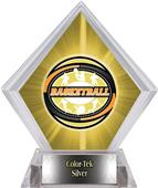 Award Classic Basketball Yellow Diamond Ice Trophy