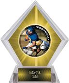 Awards PR2 Football Yellow Diamond Ice Trophy