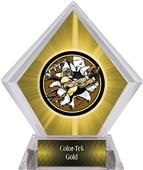 Awards Bust-Out Football Yellow Diamond Ice Trophy