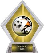 Awards P.R. Male Soccer Yellow Diamond Ice Trophy
