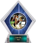P.R. Male Basketball Blue Diamond Ice Trophy