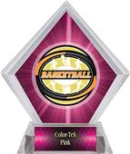 Award Classic Basketball Pink Diamond Ice Trophy