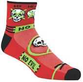 Red Lion Zany No Evil Performance Crew Socks CO