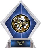 Awards Bust-Out Football Blue Diamond Ice Trophy
