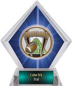 Awards ProSport Football Blue Diamond Ice Trophy