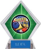 Awards Americana Cheer Green Diamond Ice Trophy