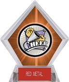 Hasty Award Xtreme Cheer Orange Diamond Ice Trophy