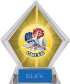 Hasty Awards HD Cheer Yellow Diamond Ice Trophy
