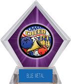 Awards Americana Cheer Purple Diamond Ice Trophy