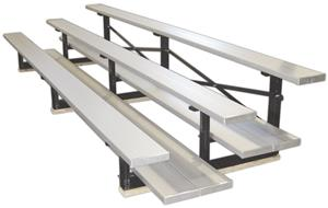 ALUMINUM FINISH/3 ROW/DOUBLE PLANK