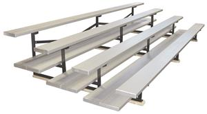 ALUMINUM FINISH/4 ROW/DOUBLE PLANK
