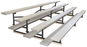 ALUMINUM FINISH/4 ROW/SINGLE PLANK