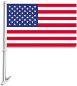 "BSI USA 2-Sided 11"" x 18"" Car Flag"