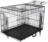 Go Pet Club Metal Dog Crate with 3-Door Divider