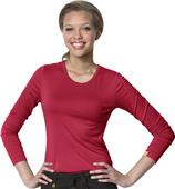 WonderWink Layers Womens Silky Long Sleeve Tee