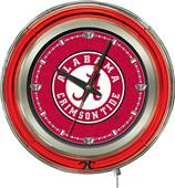 Holland Univ Alabama Script A Neon Logo Clock
