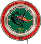 Holland Univ Alabama Birmingham Neon Logo Clock