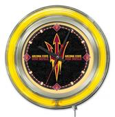 Holland Arizona State University Neon Logo Clock