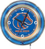 Holland Boise State University Neon Logo Clock