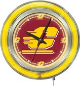 Holland Central Michigan Univ Neon Logo Clock