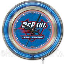 Holland DePaul University Neon Logo Clock