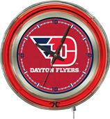 Holland University of Dayton Neon Logo Clock