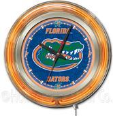 Holland University of Florida Neon Logo Clock