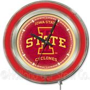 Holland Iowa State University Neon Logo Clock